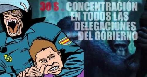 El Gobierno de los Simios 30S Basta de Represion